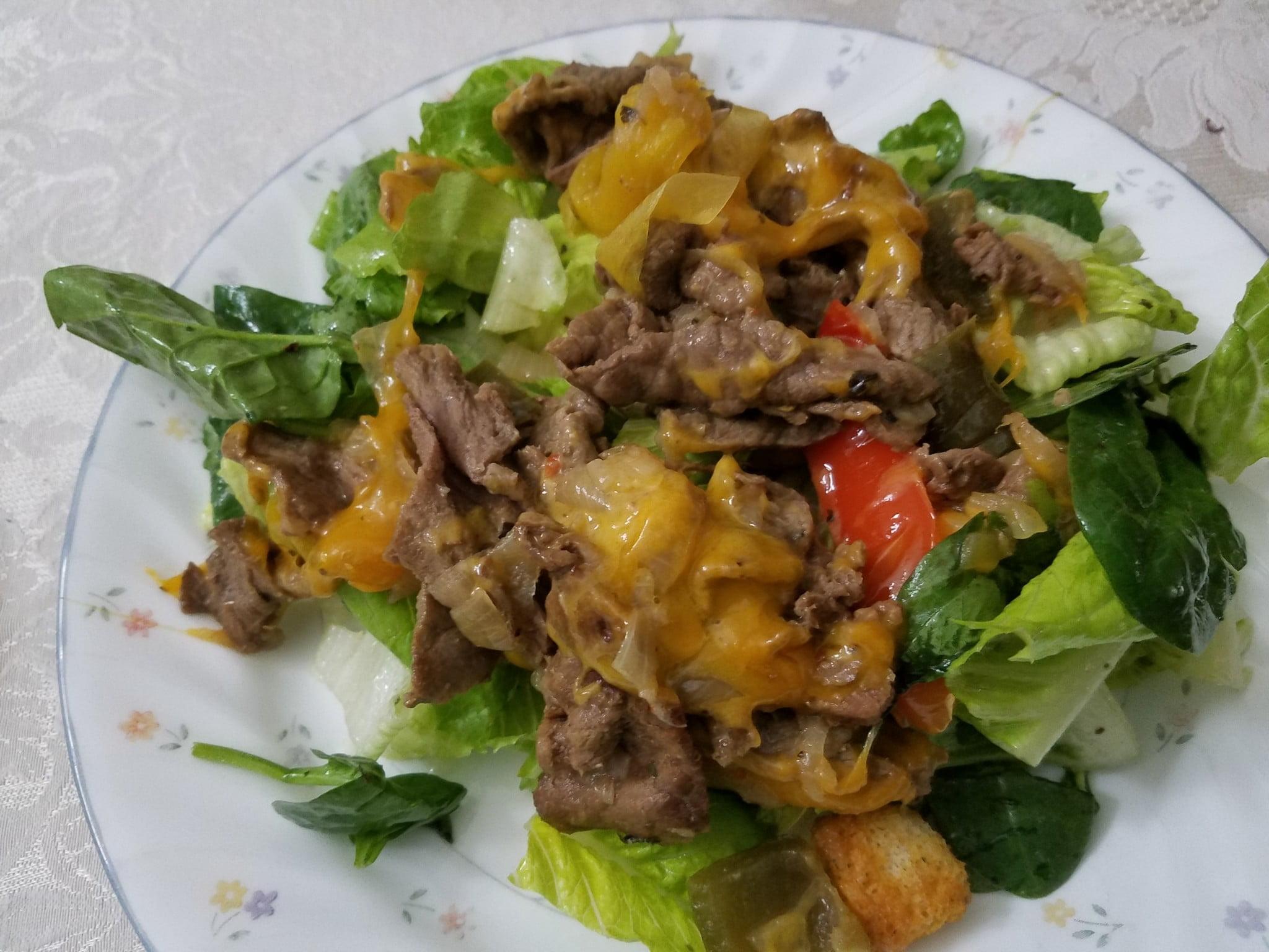 Cheese Steak Salad