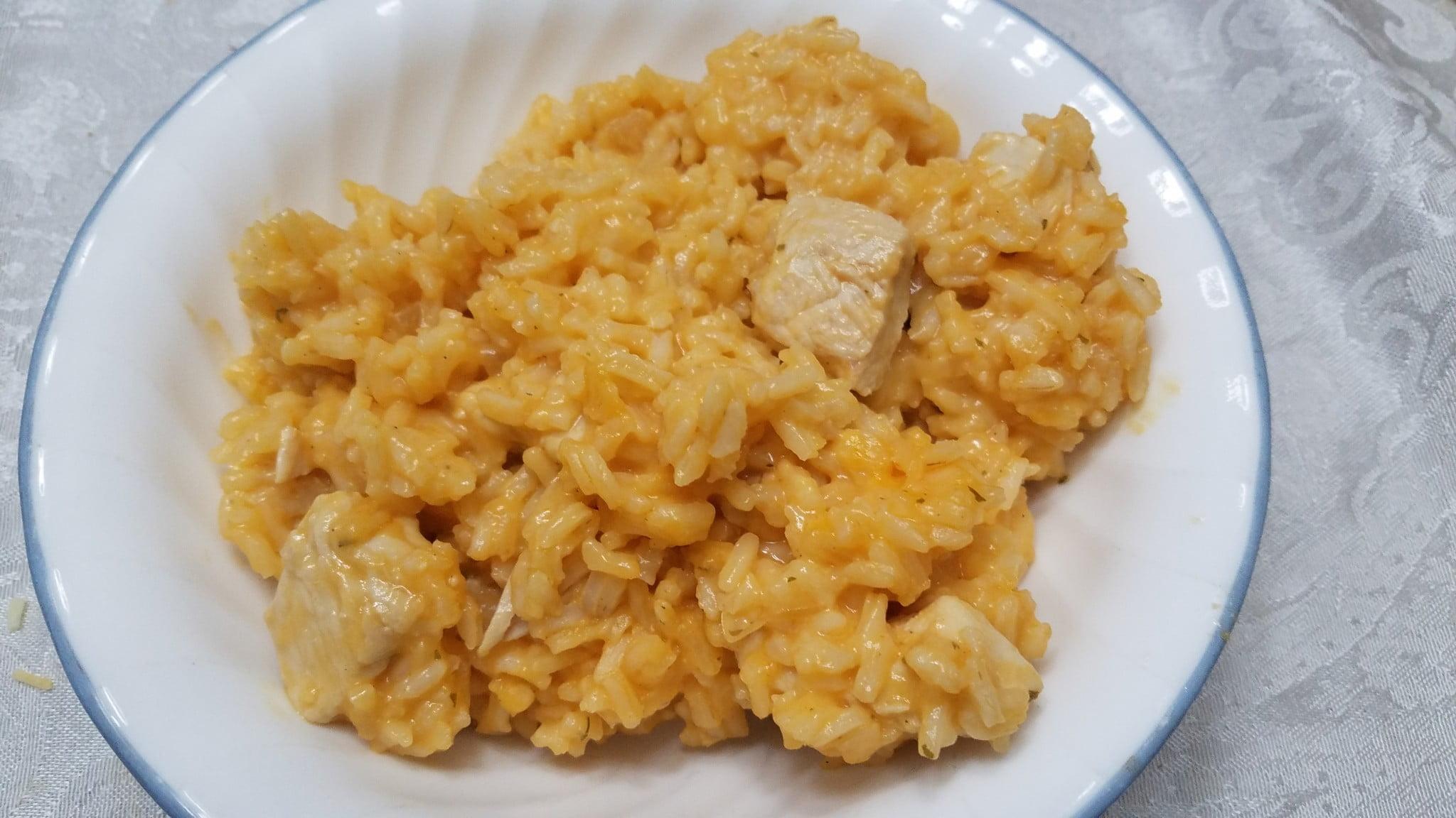 One Pot Wonder Buffalo Chicken and Rice