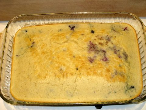 Blueberry Sausage Pancake Bake