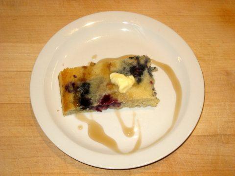Blueberry Sausage Pancake Bake Plate