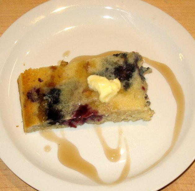 Blueberry Sausage Pancake Bake