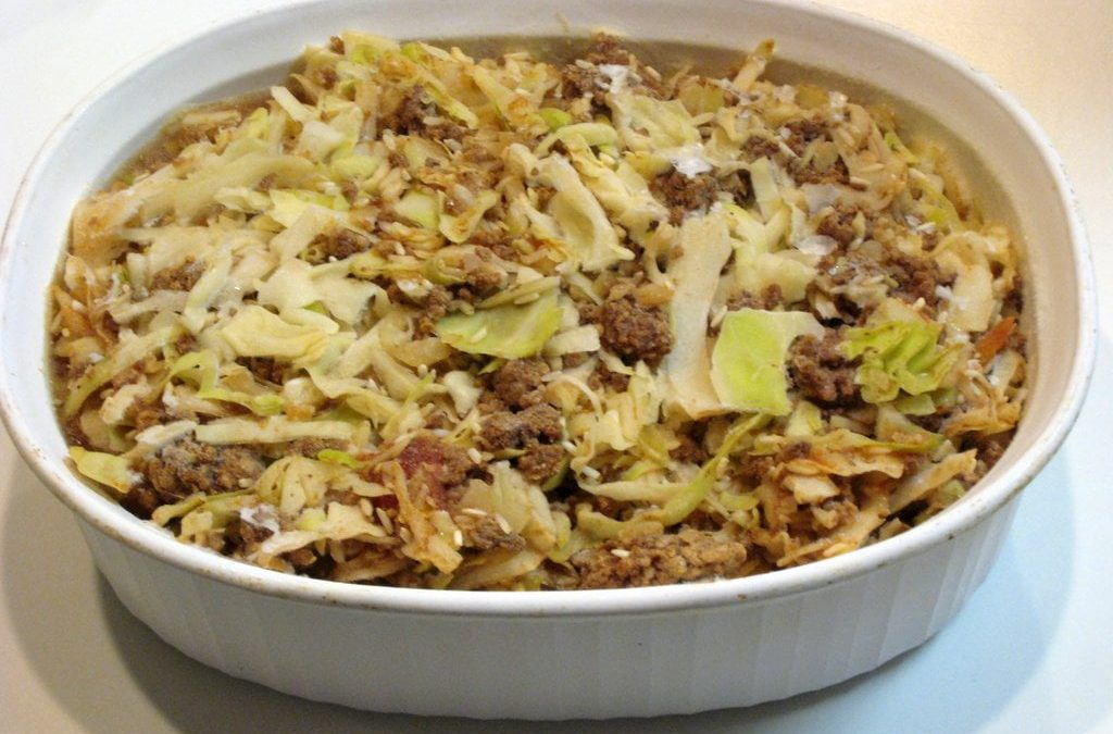 Cabbage, Beef and Rice Casserole – Freezer Meal