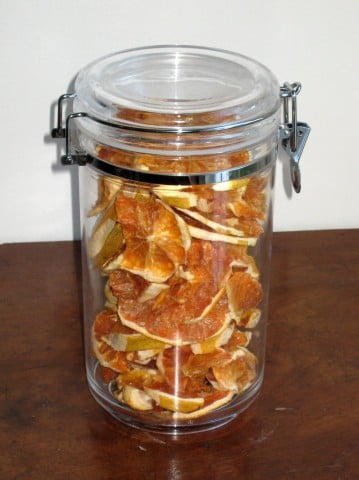 Dehydrated Grapefruit Jar
