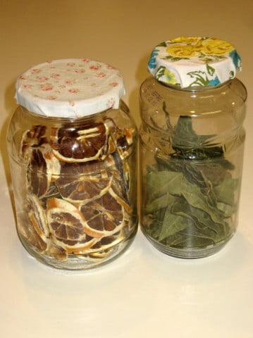 Fabric covered lids for jars