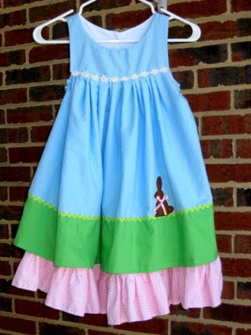 Homemade Applique Easter Dress
