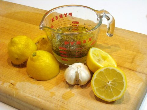 Homemade Lemon Garlic Salad Dressing Ingredients