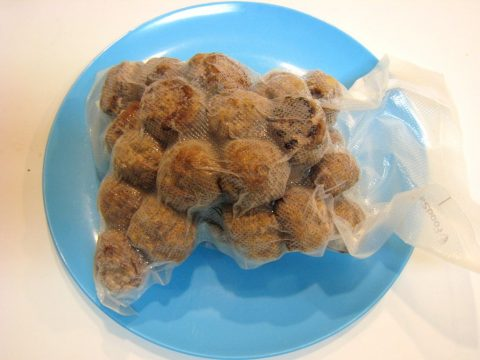 Homemade Mini Meatballs Vacuum Sealed