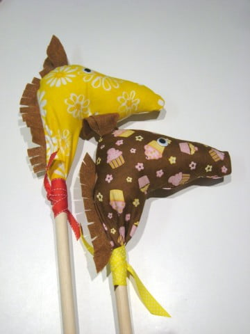 Homemade Stick Horses