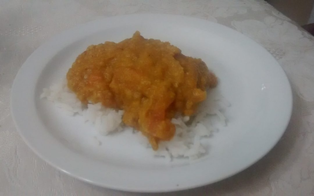 Slow Cooker Red Lentil Butternut Squash Curry