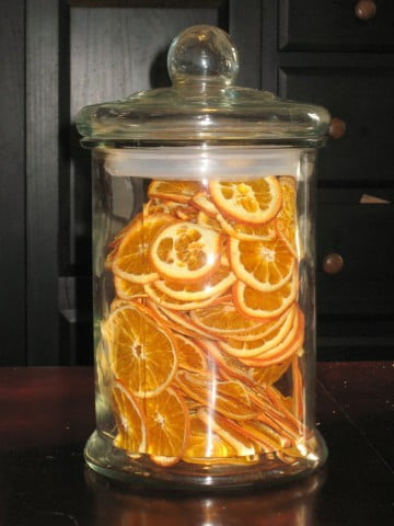Large Jar of Dried Orange Slices