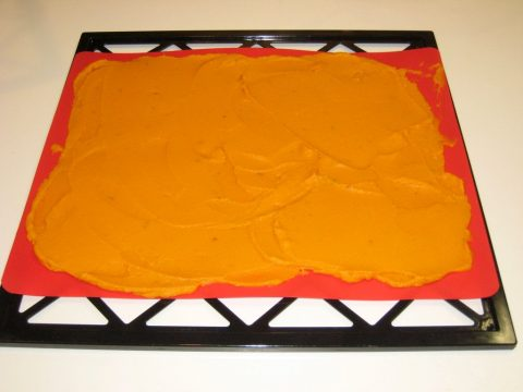 Mashed Sweet Potato on Drying Rack