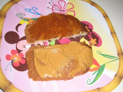 Peanut Butter Sandwich on Loaf Ends