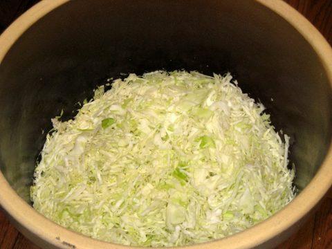 Sauerkraut in Crock