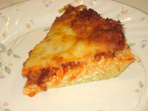 Spaghetti Pie Slice