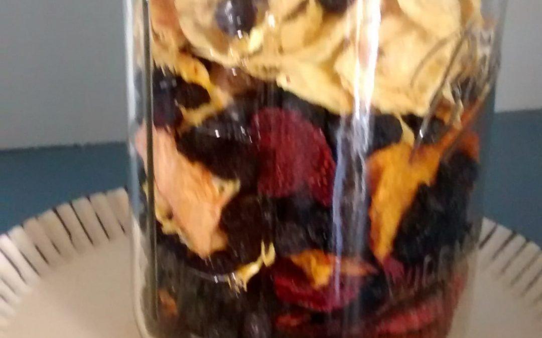 Dehydrating Frozen Fruit